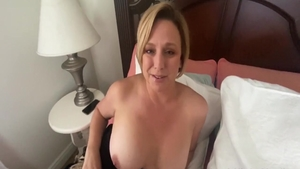 Very sexy & large boobs blonde babe POV anal fucking