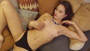 Very hot babe finds pleasure in plowing hard