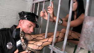 Madison Parker finds dick to fuck in jail