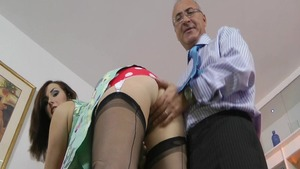 Paige Turnah in lingerie crazy cumshot