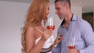 Very hot and young blonde Kyra Hot romantic getting facial