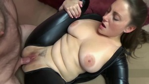 Melanie Hicks in company with busty Black Cat