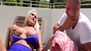 Rough sucking dick together with busty GILF Katya Rodriguez